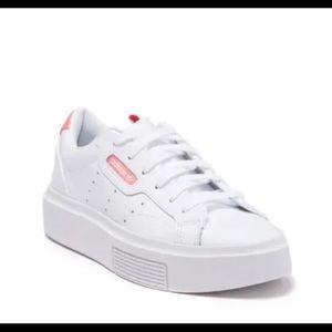 Adidas Sleek White and Pink Sneaker Size 7 1/2